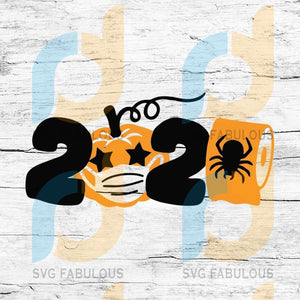 2020 Halloween Svg, Quarantine Halloween Svg, Carved Pumpkin Svg, Halloween Svg
