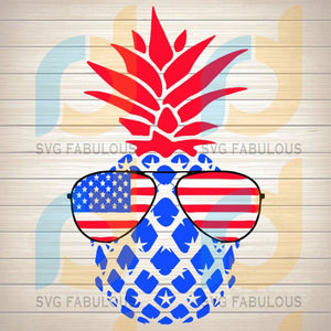 4Th Of July Pinapple Svg File Png Eps