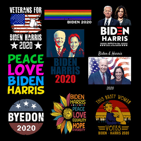 Biden Harris 2020 PNG bundle, Joe Biden and Kamala Harris For President 2020 PNG, Election Democrat instant download Files Silhouette Cutting