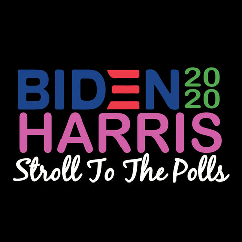 Biden Harris Pink and Green STROLL to the Polls svg, joe biden png, joe biden face svg, joe biden silhouette svg, joe biden clipart, joe biden for, united states