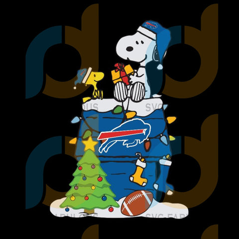 A Happy Christmas With Buffalo Bills Snoopy svg, Buffalo Bills svg, NFL svg, NFL logo svg, NFL svg, Football svg, png, Logo sports