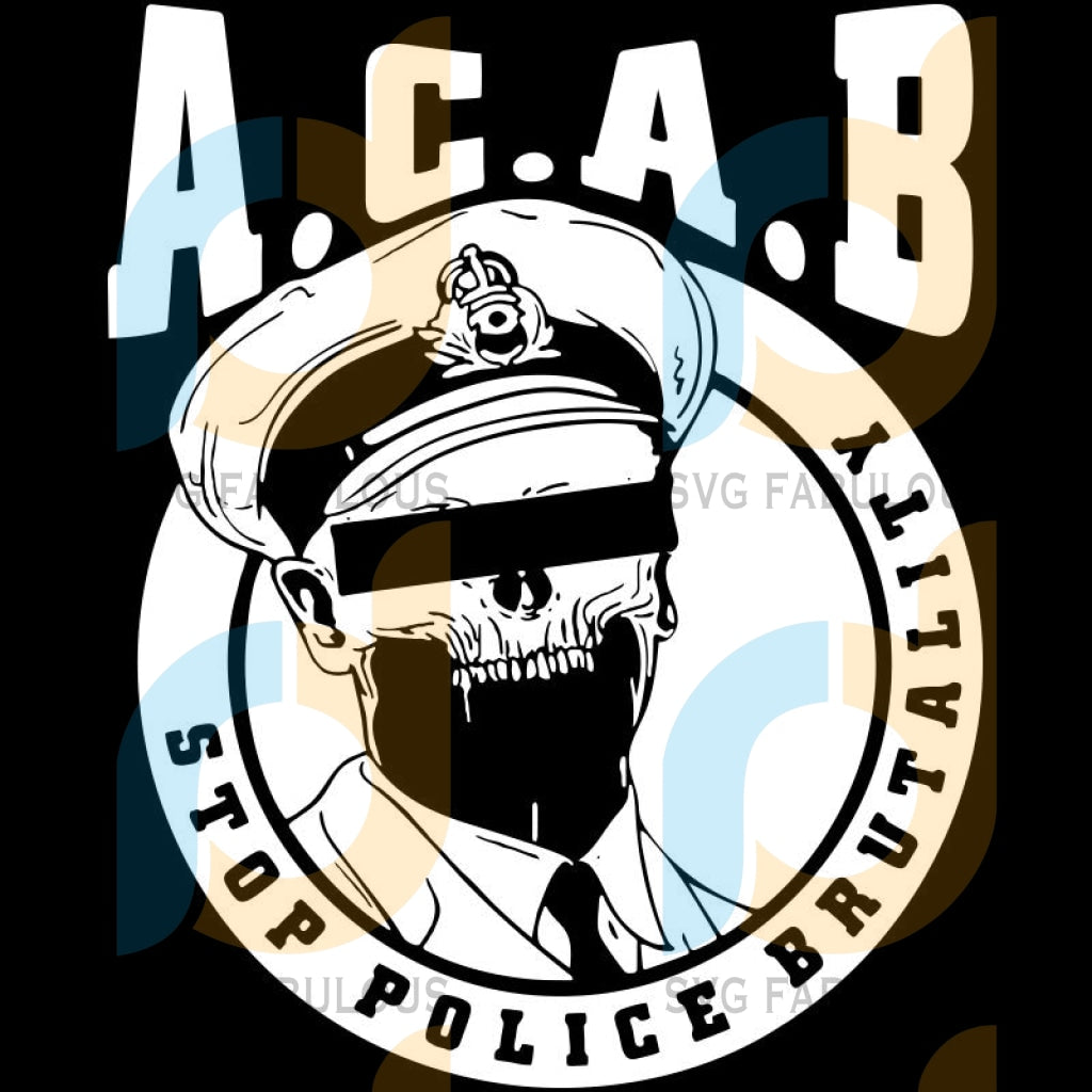 Acab Stop Police Brutality Svg Files For Silhouette Cricut Dxf Eps Png Instant Download1