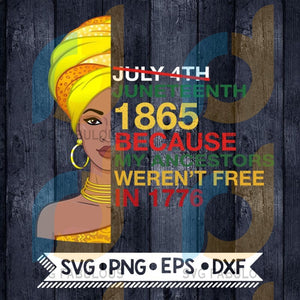 Afro Woman Juneteenth 1865 Svg Png Dxf Eps Download Files