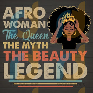Afro Woman The Queen Myth Beauty Legend Svg Png Dxf Eps Download Files