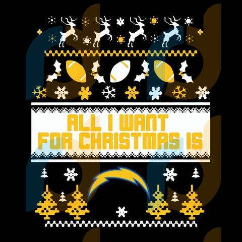 All I Want For Christmas Is Los Angeles Chargers,NFL Svg, Football Svg, Cricut File, Svg