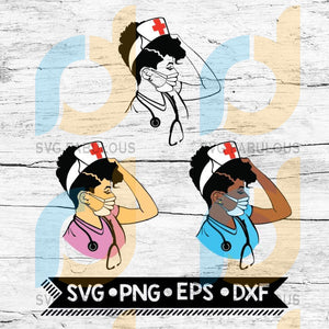 Amazing Doctor Svg Hospital Nurse Stethoscope Black Woman Paramedic Afro Woman