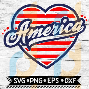 America Heart Svg Svg 4Th Of July Usa Patriotic Independence Day