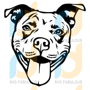 American Pit Bull Svg Files For Silhouette Cricut Dxf Eps Png Instant Download10