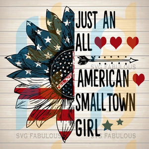 American Small Town Girl SVG PNG DXF EPS Download Files
