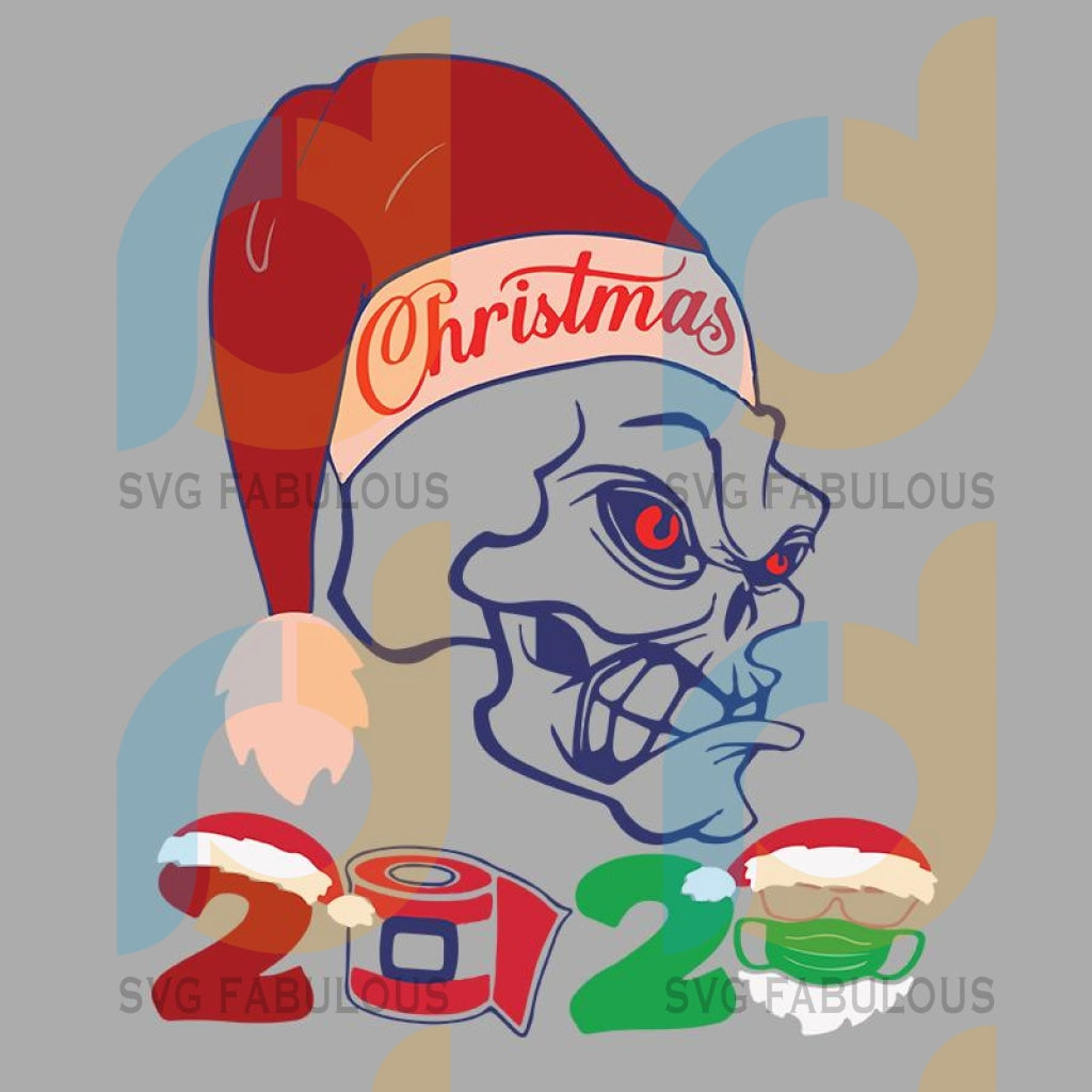 Angry skull in christmas 2020 svg, angry skull in christmas 2020 t shirt template vector, merry christmas, christmas, christmas 2020 svg, funny christmas 2020