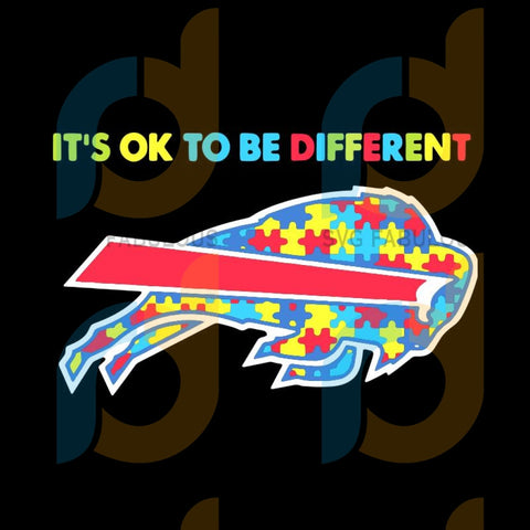 Autism Awareness Its Ok To Be Different Buffalo Bills svg, Buffalo Bills svg, NFL svg, NFL logo svg, NFL svg, Football svg, png, Logo sports