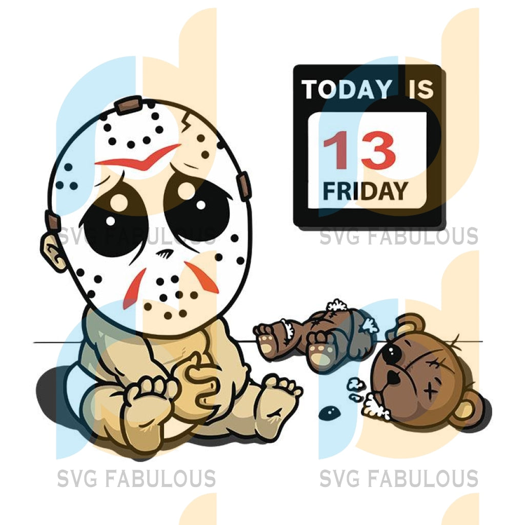 Baby Jason Friday Svg, Halloween Digital