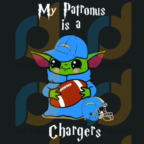 Baby Yoda My Patronus Is A Chargers Svg Sport Los Angeles Football Team Helmet Logo Nfl Harry Potter