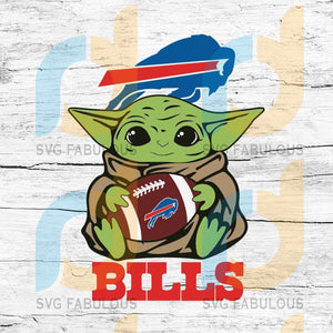 Baby Yoda Star Wars, Buffalo Bills Svg, NFL Svg, Football Svg, Cricut File, Svg