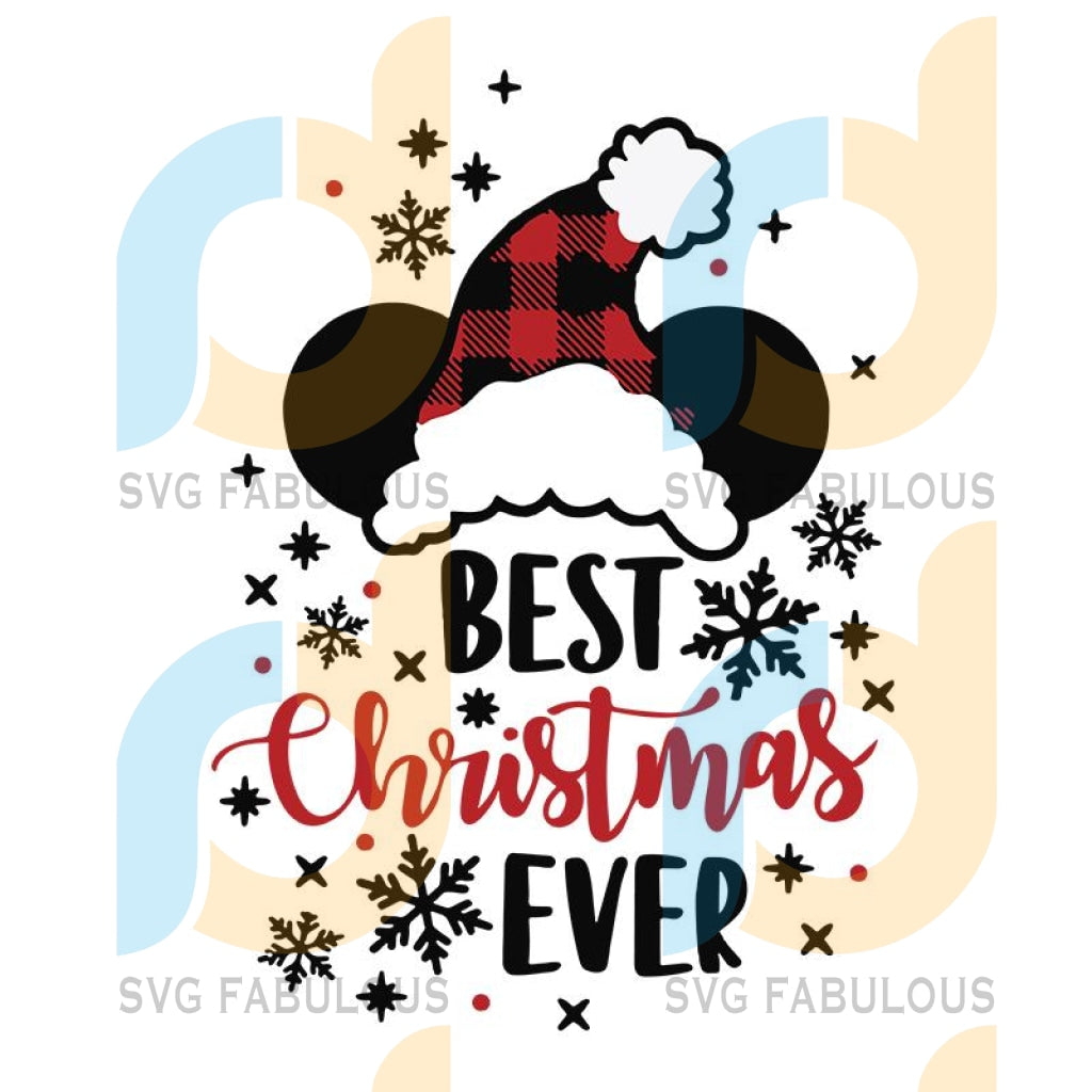 Best Christmas Ever svg, Mickey Mouse Head svg, Christmas svg, merry xmas svg, christmas svg, christmas party, merry christmas svg, christmas saying svg, christmas clip art