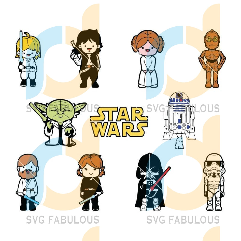 Best Star Wars Bundle Svg, Star Wars Bundle Star Wars Cricut Digital Download