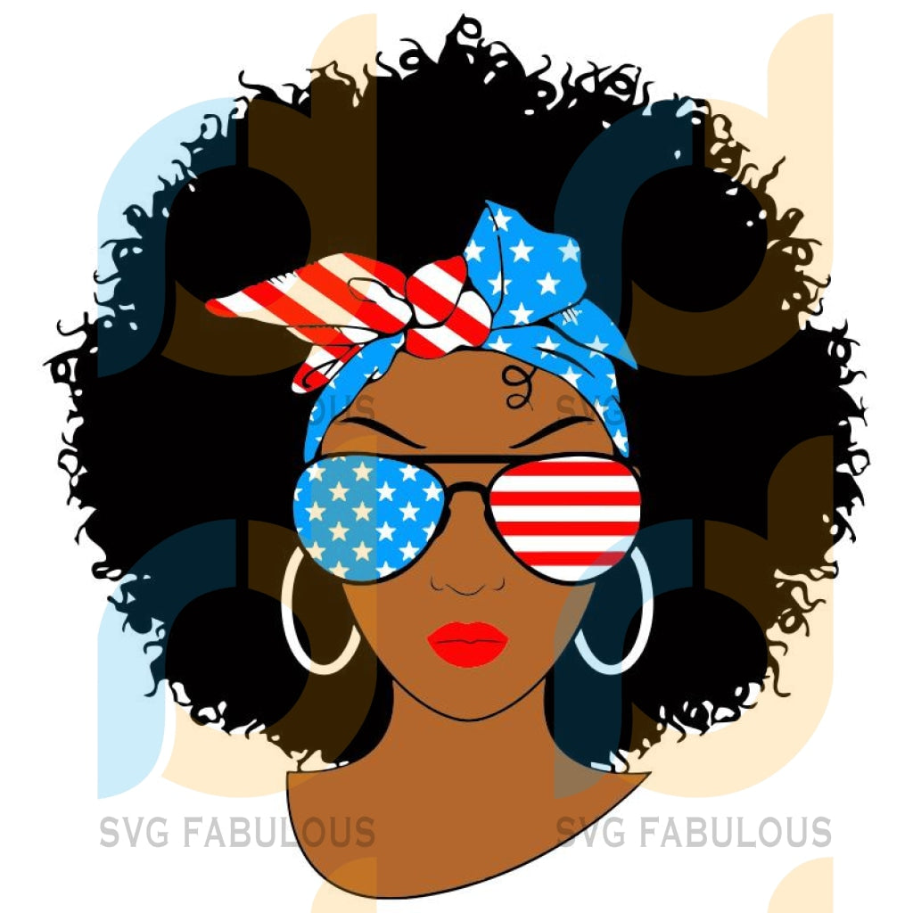 Black Woman America Svg Png Dxf Eps Download Files