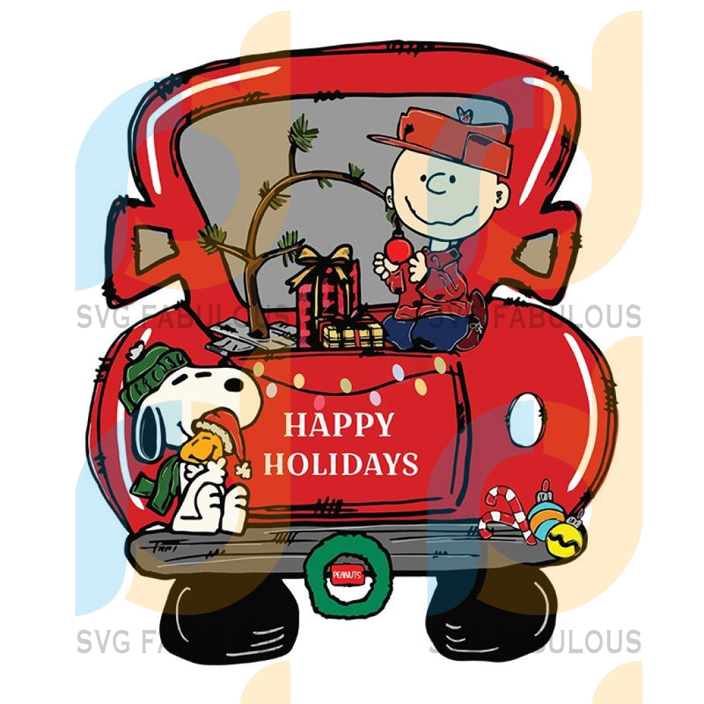 Charlie Brown Christmas Truck svg, merry xmas svg, christmas svg, christmas party, merry christmas svg, christmas saying svg, christmas clip art