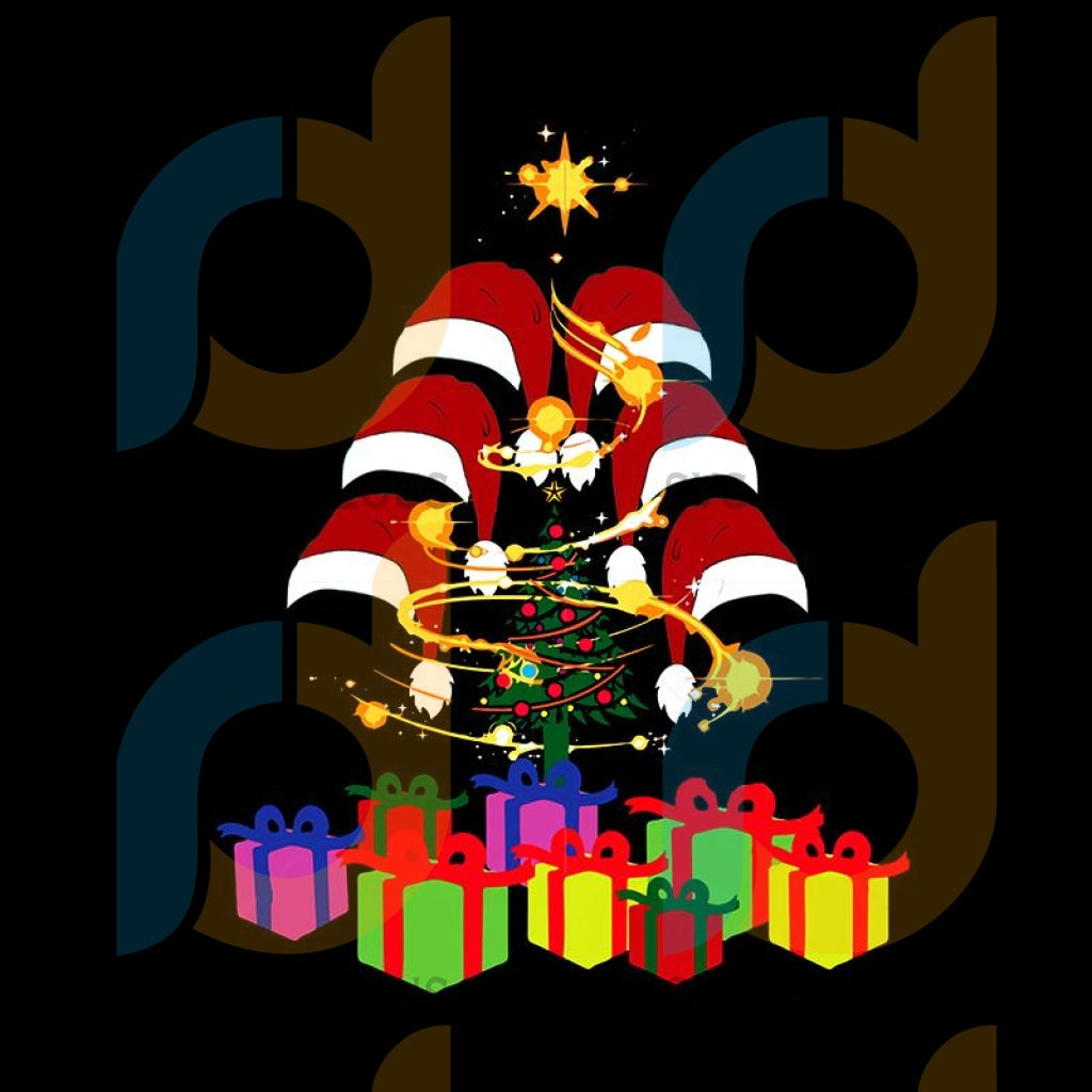 Christmas hats from the christmas tree svg, christmas svg, funny christmas 2020 svg, christmas quote vector, noel scene svg, merry christmas svg, santa svg