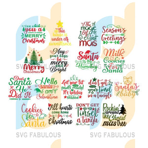 Christmas Svg Bundle Pack Svg, Bundle Pack Xmas