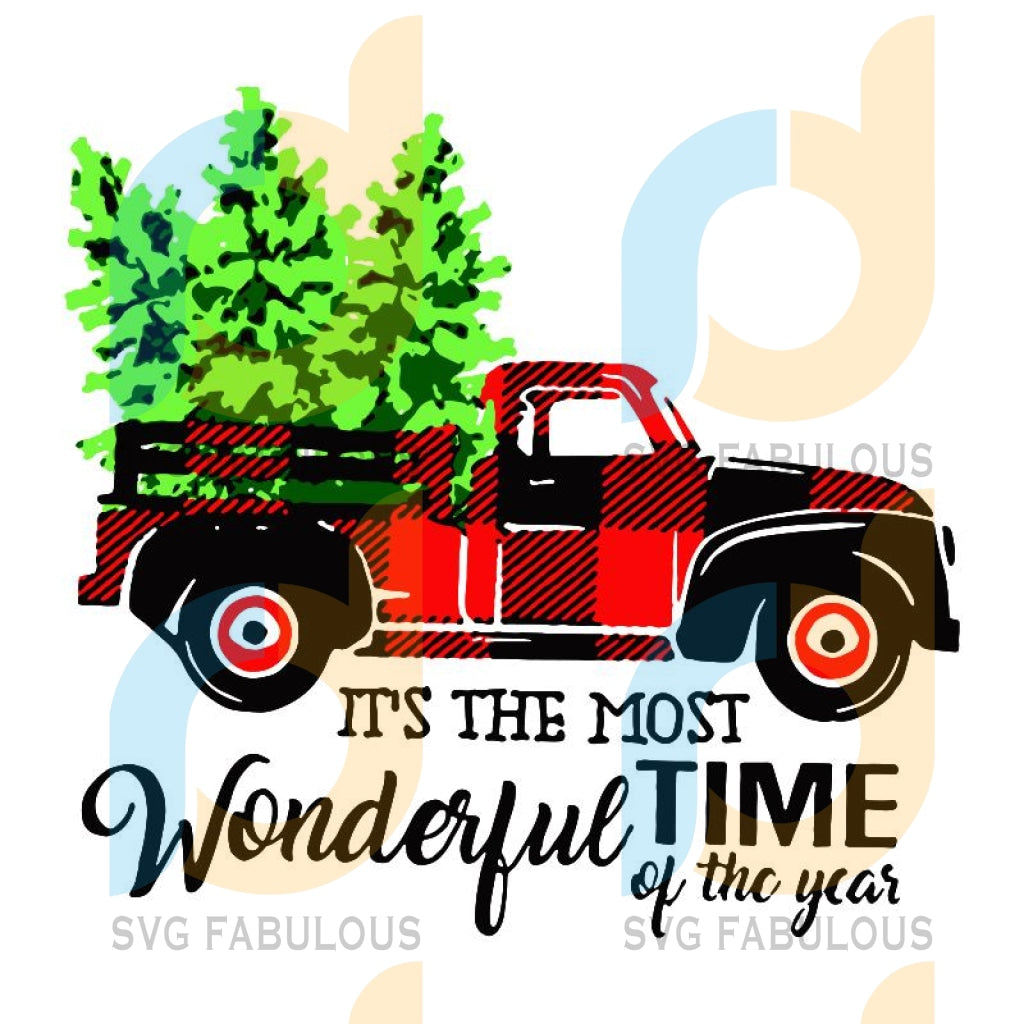 Christmas Truck It's The Most Wonderful Time Of The Year svg, Christmas Tree svg, merry xmas svg, christmas svg, christmas party, merry christmas svg, christmas saying svg