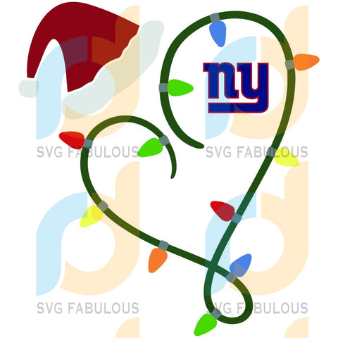 Christmas With New York Giants Svg Sport Logo Nfl Team American Football