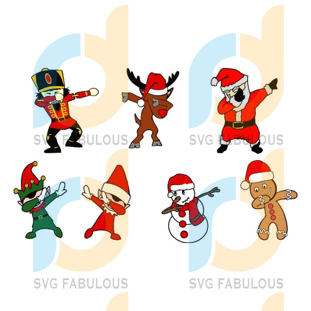 Dabbing Christmas svg, Dabbing Christmas Characters svg, Dabbing Christmas Friends svg, merry xmas svg, christmas svg, christmas party, merry christmas svg