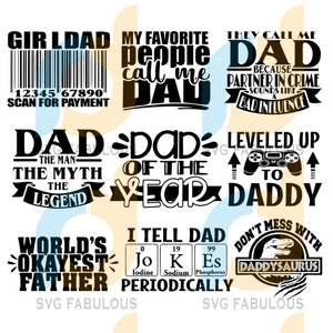 Dad Bundle Svg Files For Silhouette Cricut Dxf Eps Png Instant Download9