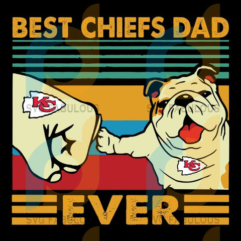 Dad Ever And Dog Fan Kansas City Chiefs,NFL Svg, Football Svg, Cricut File, Svg