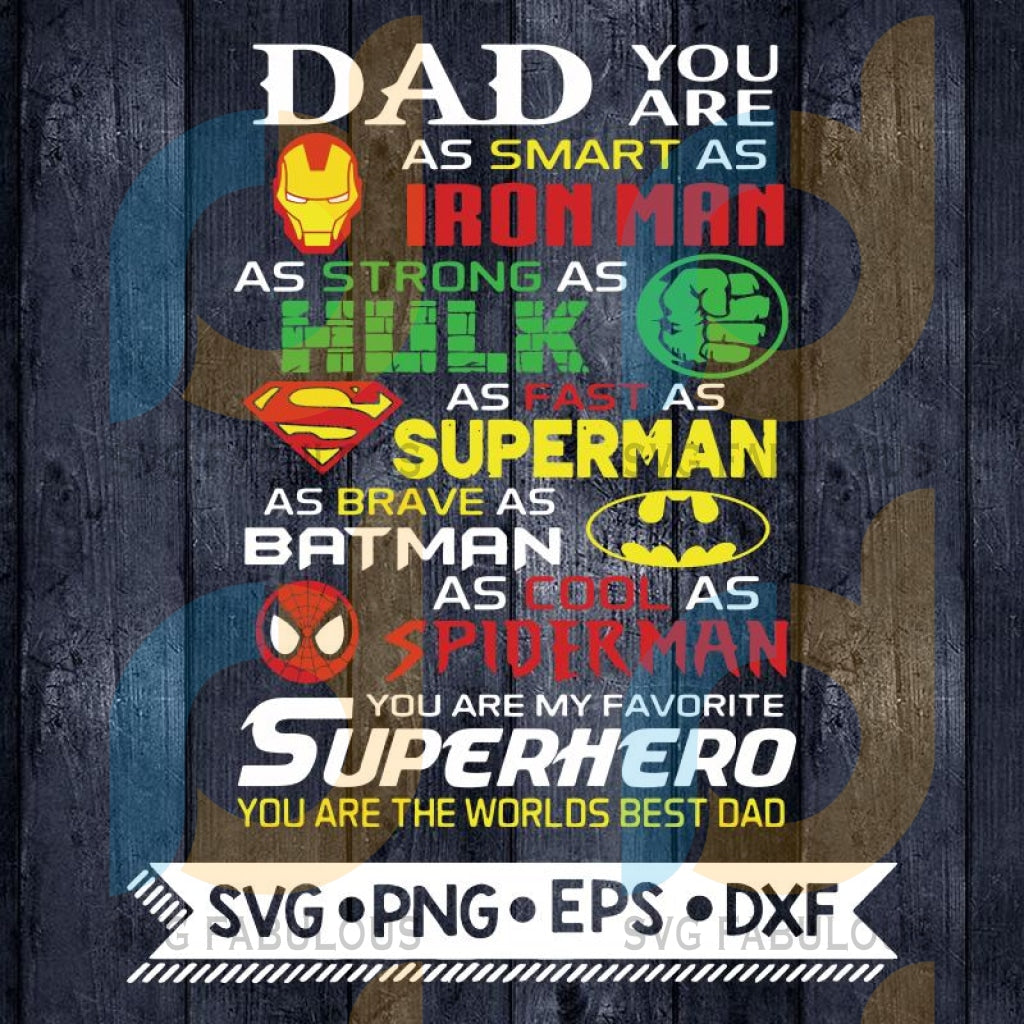 Daddy Bundle Fathers Day Marvel Cartoon Svg Png Eps Dxf