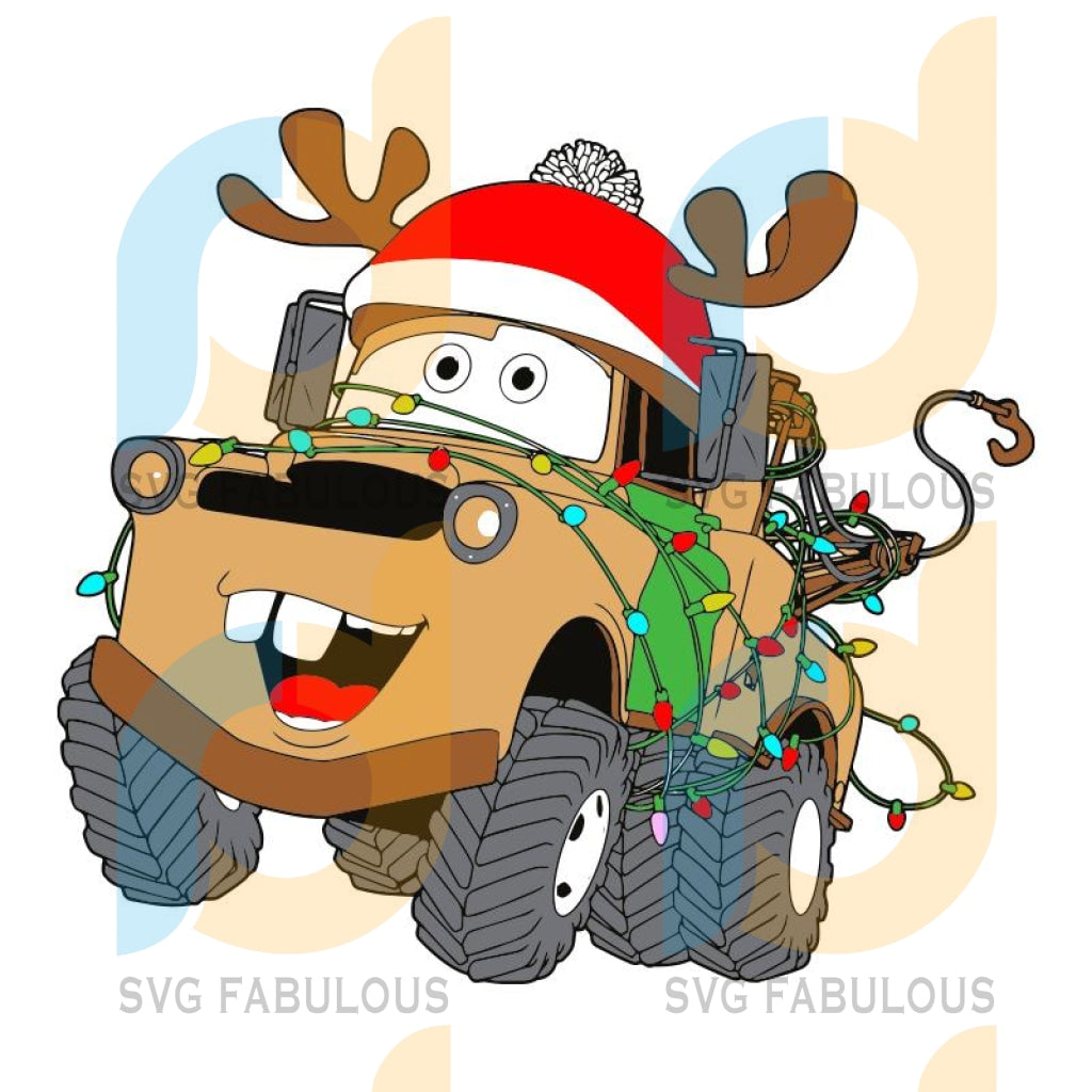 Disney Car Mater Christmas hat svg, Mouse Die svg, Disney svg, merry xmas svg, christmas svg, christmas party, merry christmas svg, christmas saying svg, christmas clip art