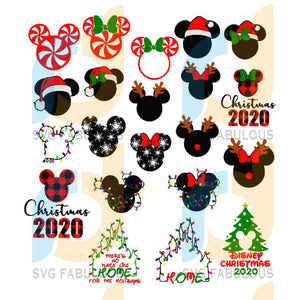 Disney Christmas svg bundle, Mickey Mouse Christmas svg, Minnie Mouse Christmas svg, Christmas 2020 svg, merry xmas svg, christmas svg, christmas party, merry christmas svg