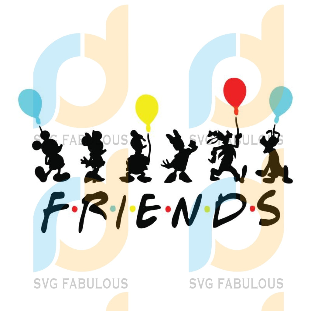 Disney Family Vacation Svg, Friends Svg, Cricut File, Svg, Disney Charactor Svg