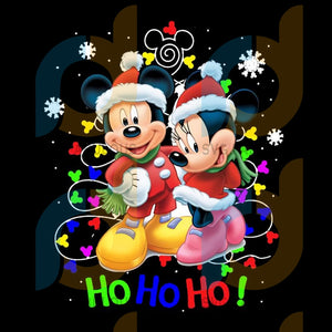Disney Mickey and Minnie Ho Ho Ho Christmas png, merry xmas png, christmas png, christmas party, merry christmas png, christmas saying png, christmas clip art