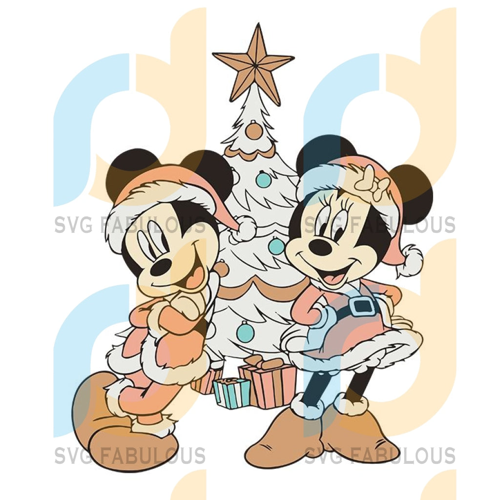 Disney Mickey And Minnie Mouse Christmas svg, merry xmas svg, christmas svg, christmas party, merry christmas svg, christmas saying svg, christmas clip art