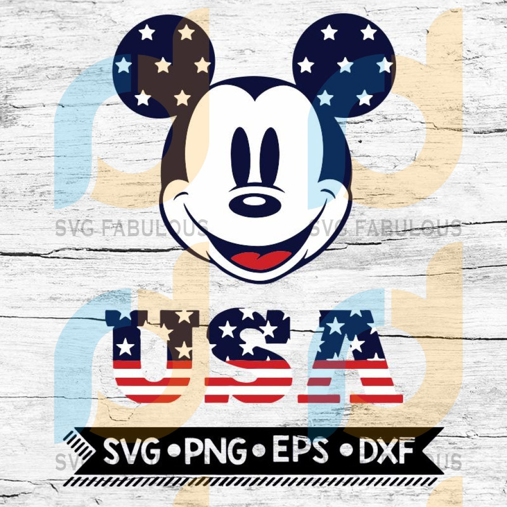 Disney Patriotic Svg Family 4Th Of July American Flag Mickey