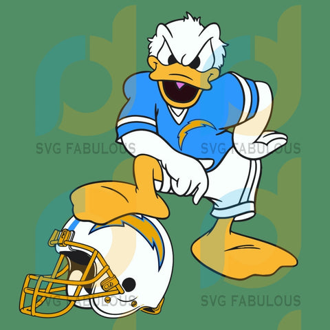 Donald Duck Los Angeles Chargers Svg Sport Football Team Fans Lovers Nfl
