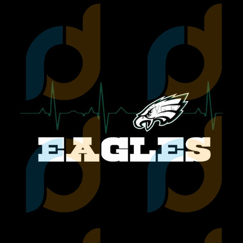 Eagles Heartbeat Svg Sport Philadelphia Eagles Nfl Football Fan Logo
