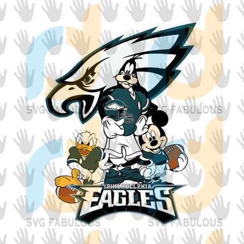 Eagles With Mickey And Donald Svg Sport Lovers Philadelphia Eagles Nfl Football Fan Logo