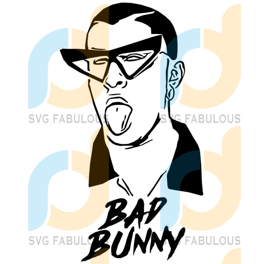 El Conejo Malo Bad Bunny Svg Files For Silhouette Cricut Dxf Eps Png Instant Download3