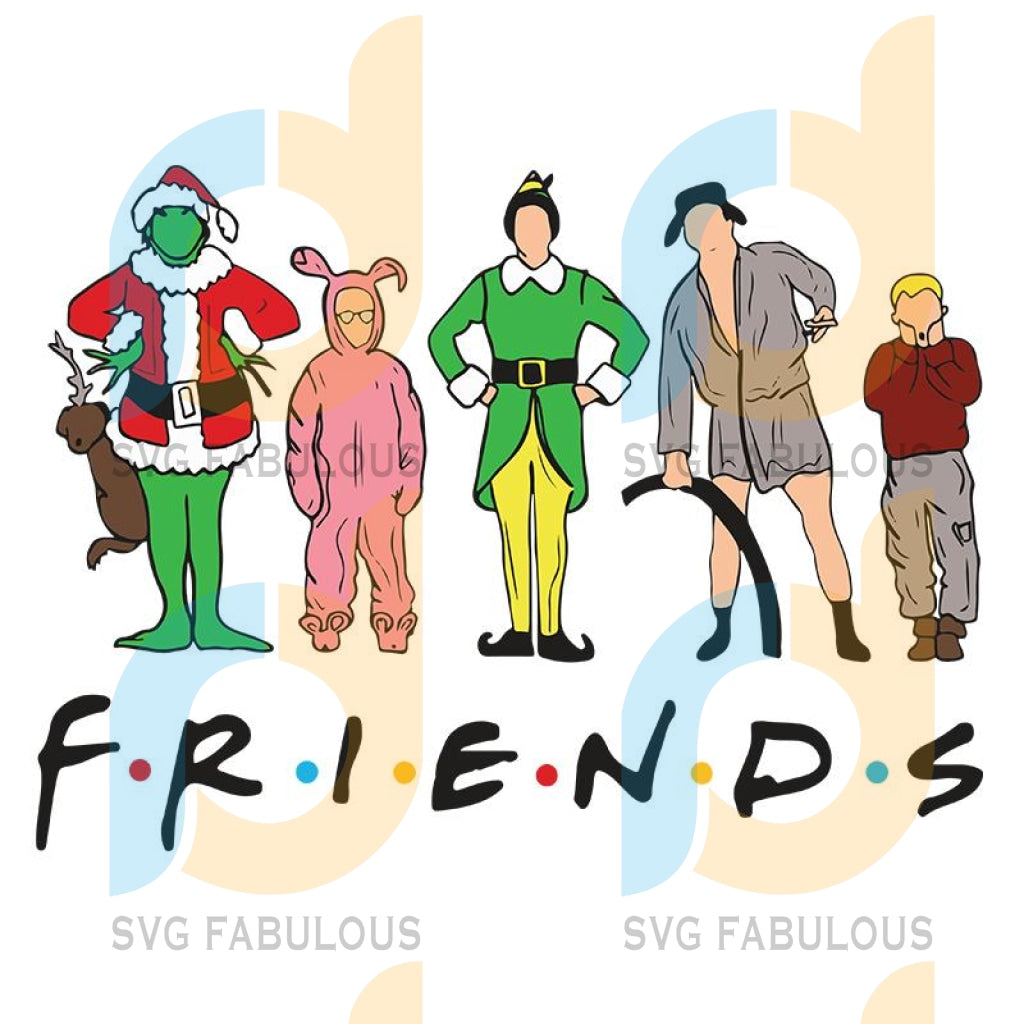 ELF Grinch Clark griswold Kevin Christmas Character FRIENDS svg, merry xmas svg, christmas svg, christmas party, merry christmas svg, christmas saying svg, christmas clip art