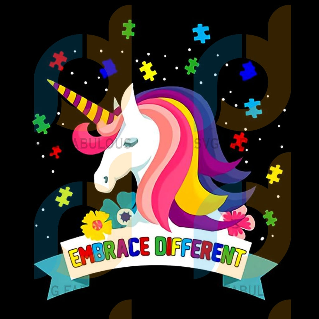 Embrace Different Svg Trending Unicorn Dabbing Birthday Party Clipart Lover Horn Vector Head Embrace