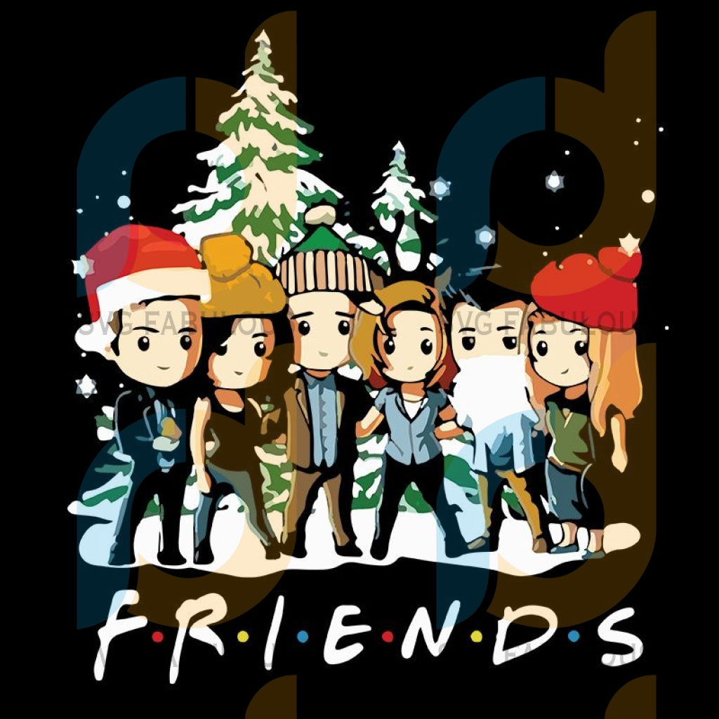 Friends supernatural chibi merry Christmas png, merry xmas png, christmas png, christmas party, merry christmas png, christmas saying png, christmas clip art