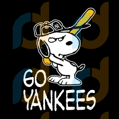 Go Yankees Snoopy Svg, New York Yankees, New York Yankees Svg, New York Yankees Digital Download