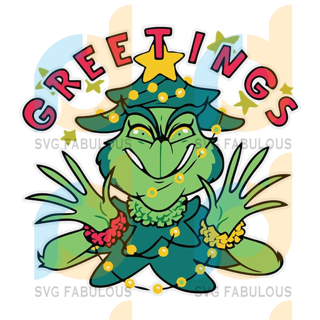 Greetings Christmas Grinch Svg, The Grinch Svg, Dxf, Png Digital