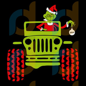 Grinch in a Jeep Svg, Grinch Svg, Jeep Svg, Christmas Svg, merry xmas svg, christmas svg, christmas party, merry christmas svg, christmas saying svg, christmas clip art