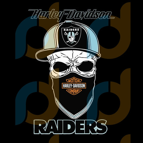 Harley Skull Las Vegas Raiders,NFL Svg, Football Svg, Cricut File, Svg