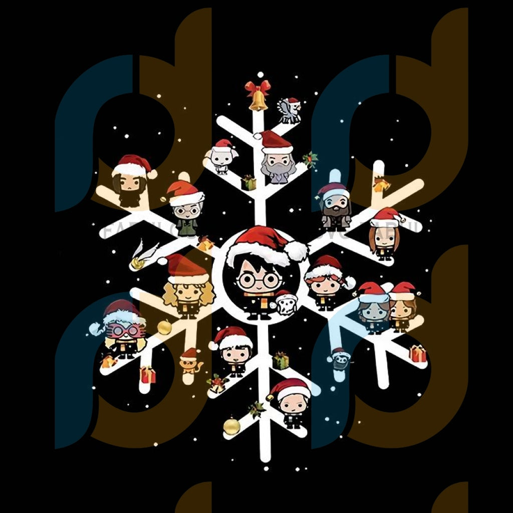 Harry Potter And Friends In The Snow Christmas svg, merry xmas svg, christmas svg, christmas party, merry christmas svg, christmas saying svg, christmas clip art