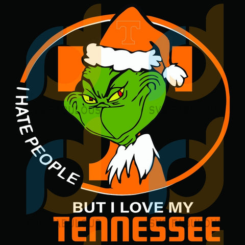 I Hate People But Love My Tennessee Titans Svg Sport Grinch Logo Nfl Football