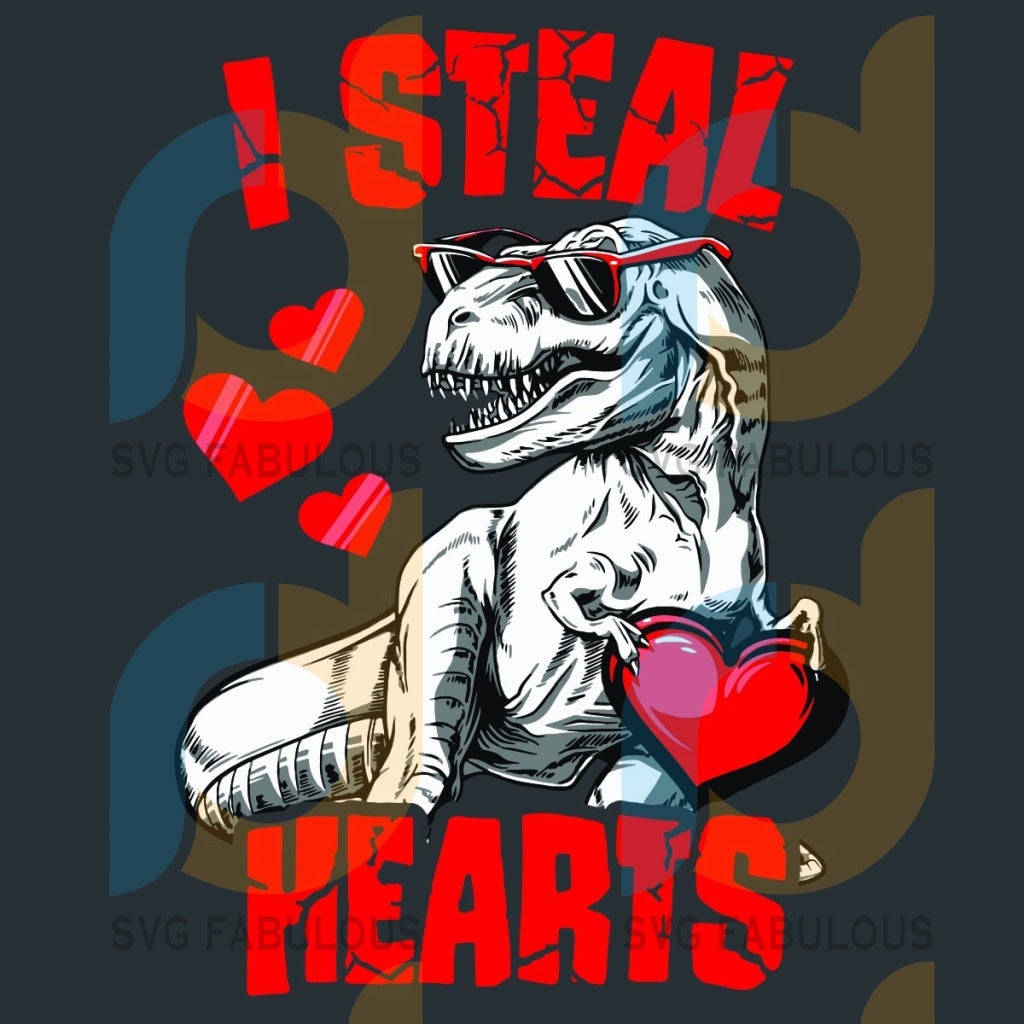 I Steal Hearts Svg Valentine T Rex Dinosaur Lovers Heart 2021 Love Couple Gifts Day
